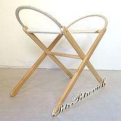 """Для дома и интерьера ручной работы. Ярмарка Мастеров - ручная работа """"Ронда"""" подставка для люльки деревянная раскладная. Handmade."""