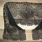 Винтаж ручной работы. Ярмарка Мастеров - ручная работа Старинный шелковый кружевной шарф вологодское коклюшечное кружево. Handmade.
