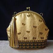 Сумки и аксессуары handmade. Livemaster - original item Leather handbag with clasp Easy flight of the butterfly. Handmade.