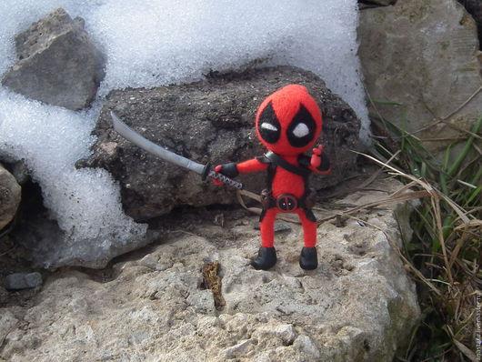 Коллекционные куклы ручной работы. Ярмарка Мастеров - ручная работа. Купить Функциональная фигурка Deadpool. Handmade. Дэдпул, марвел