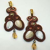 Украшения handmade. Livemaster - original item Soutache earrings