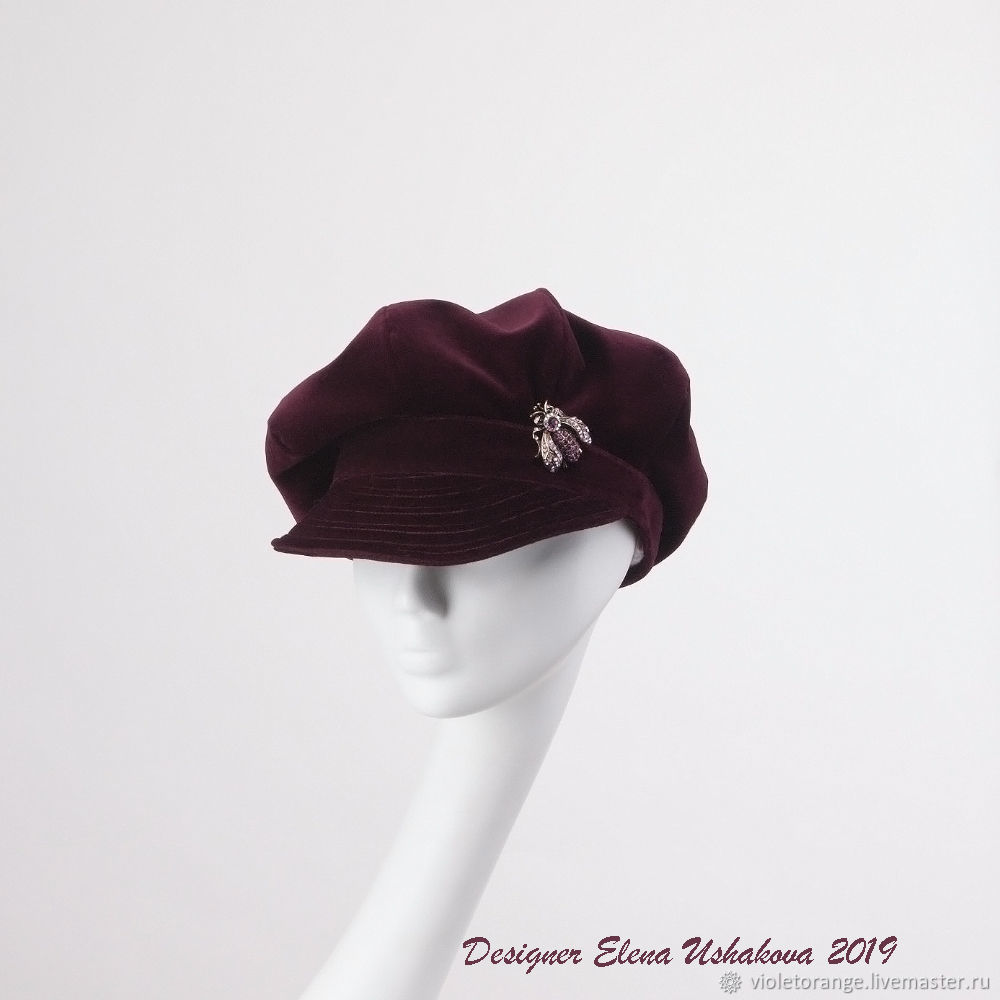 443b847df caps. Cap women's. Burgundy cap. Bachata Kepka newsboy cap – shop online on  Livemaster with shipping - HRS1DCOM | Moscow