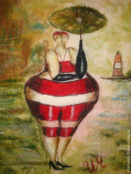 Репродукции ручной работы. Ярмарка Мастеров - ручная работа. Купить картина из шерсти. Handmade. Салатовый, картина из шерсти, репродукция, вискоза