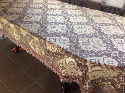 Текстиль, ковры ручной работы. Ярмарка Мастеров - ручная работа. Купить Скатерть Шоколад с золотом 2,45x1,60. Handmade.