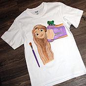 "Одежда handmade. Livemaster - original item T-shirt for kid ""Rapunzel"", hand-painted. Handmade."