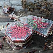 """Для дома и интерьера ручной работы. Ярмарка Мастеров - ручная работа """"Перчики чили """"набор. Handmade."""