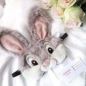 """Одежда ручной работы. Ярмарка Мастеров - ручная работа Маска для сна """"Заяц Топотун"""" из мультфильма Бемби. Handmade."""