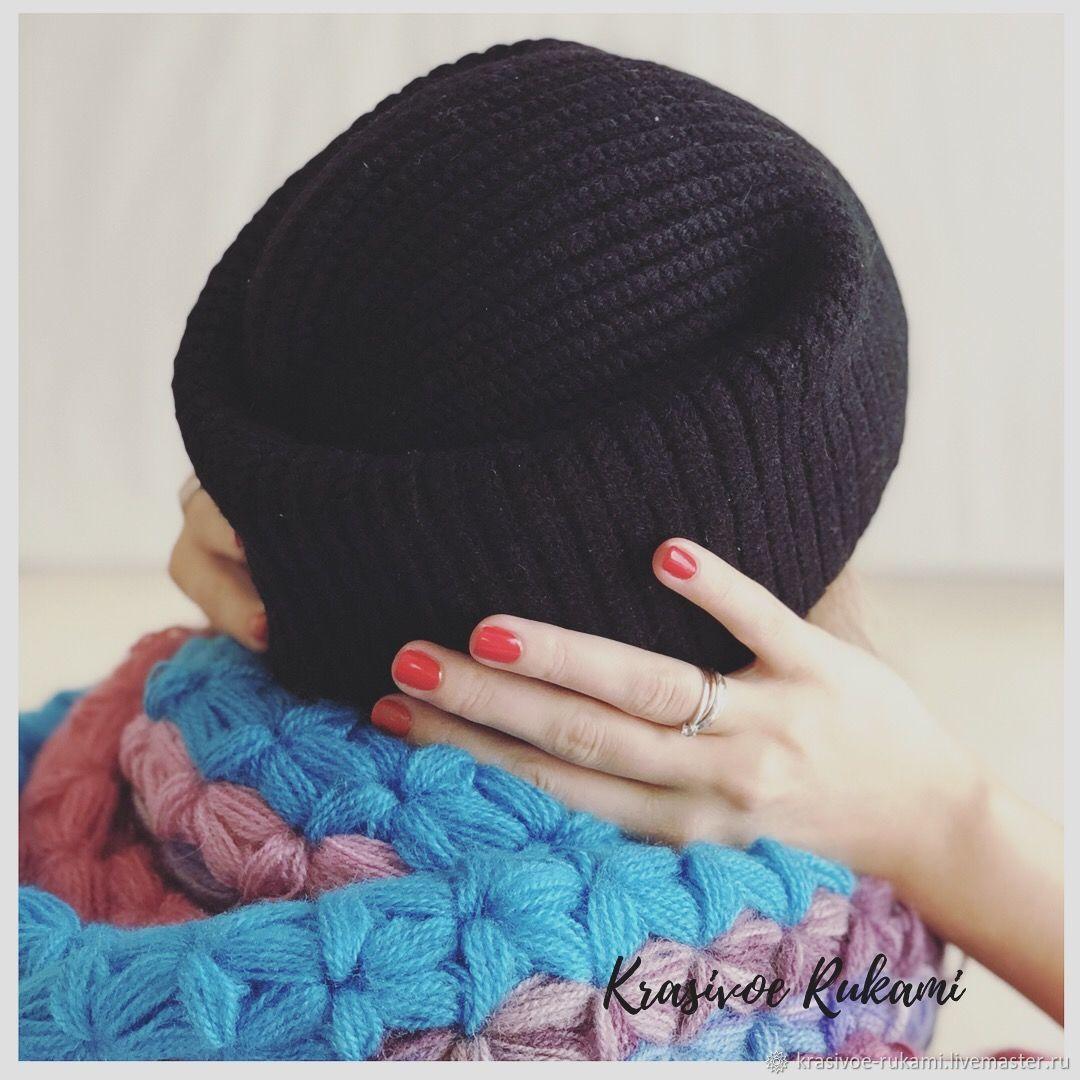 836e6447f51 Hats handmade. Livemaster - handmade. Buy Hat beanie knit black crochet  women s beanie fashion ...