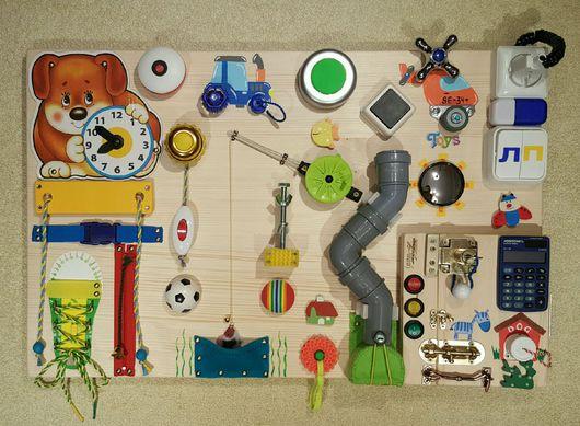 Развивающие игрушки ручной работы. Ярмарка Мастеров - ручная работа. Купить Бизиборд #34+ (BusyBoard) Москва (средний - 40х60 см). Handmade.