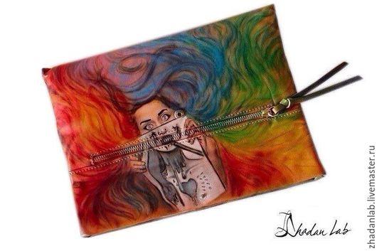татуированный клатч ручной работы