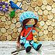 Лариса. Интерьерная текстильная кукла тыквоголовка . Авторская ручная работа