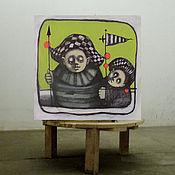 Картины и панно ручной работы. Ярмарка Мастеров - ручная работа молчание. Handmade.