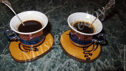 Подарочные наборы ручной работы. Ярмарка Мастеров - ручная работа. Купить Подставочки под чашечку кофе. Handmade. Подарок
