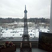 Статуэтки ручной работы. Ярмарка Мастеров - ручная работа Эйфелева башня из фанеры (63 см). Handmade.