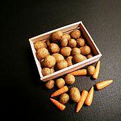 Кукольная еда ручной работы. Ярмарка Мастеров - ручная работа Еда для кукол: картофель, морковь.. Handmade.