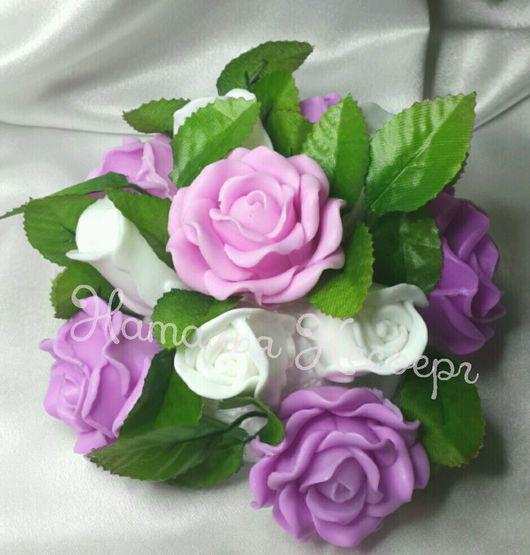 Мыло ручной работы. Ярмарка Мастеров - ручная работа. Купить Букет цветов из мыла !. Handmade. Мыло роза