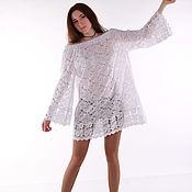 Одежда handmade. Livemaster - original item White lace tunic cotton. Handmade.