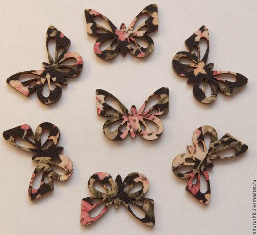 Упаковка ручной работы. Ярмарка Мастеров - ручная работа. Купить Бабочки деревянные. Handmade. Разноцветный, упаковка подарков, скрап материалы