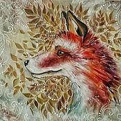 """Картины и панно ручной работы. Ярмарка Мастеров - ручная работа Картина """"Foxy"""". Handmade."""