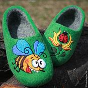 """Обувь ручной работы. Ярмарка Мастеров - ручная работа Детские тапочки  """"Пчелка"""". Handmade."""