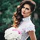 """Платья ручной работы. Ярмарка Мастеров - ручная работа. Купить """"Невеста..."""". Handmade. Платье в цветочек, белый"""