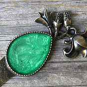 Канцелярские товары handmade. Livemaster - original item Bookmark for books (green). Handmade.