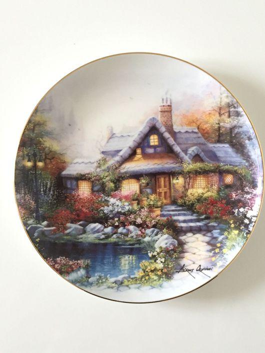 Винтажная посуда. Ярмарка Мастеров - ручная работа. Купить Тарелка POYAL DOULTON The cottage on rosetree pond. Handmade.