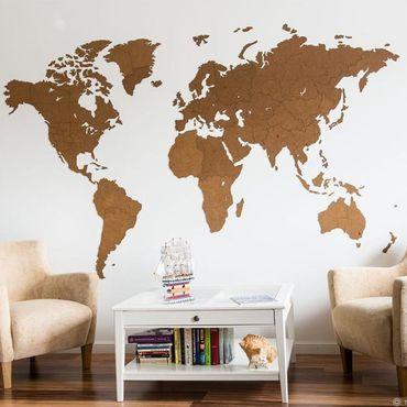 Diseño y publicidad manualidades. Livemaster - hecho a mano Mapa del mundo decoración DE la pared gigante marrón 280h170 cm. Handmade.
