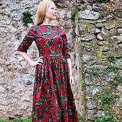 Одежда ручной работы. Ярмарка Мастеров - ручная работа Платье Тюльпаны Хлопок 100%. Handmade.