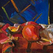 """Картины и панно ручной работы. Ярмарка Мастеров - ручная работа Картина маслом """"Осенний натюрморт"""". Handmade."""