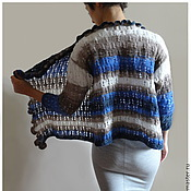 Одежда handmade. Livemaster - original item Openwork knitted cardigan Color Mix. Handmade.