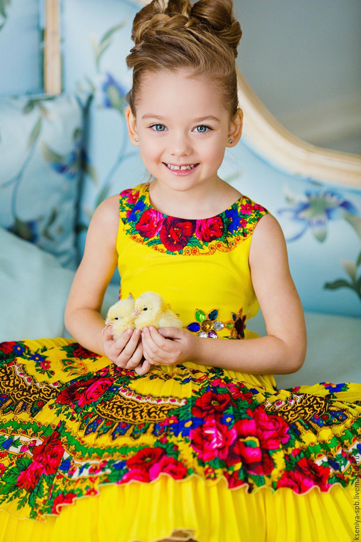 Платье в украинском стиле на девочку купить