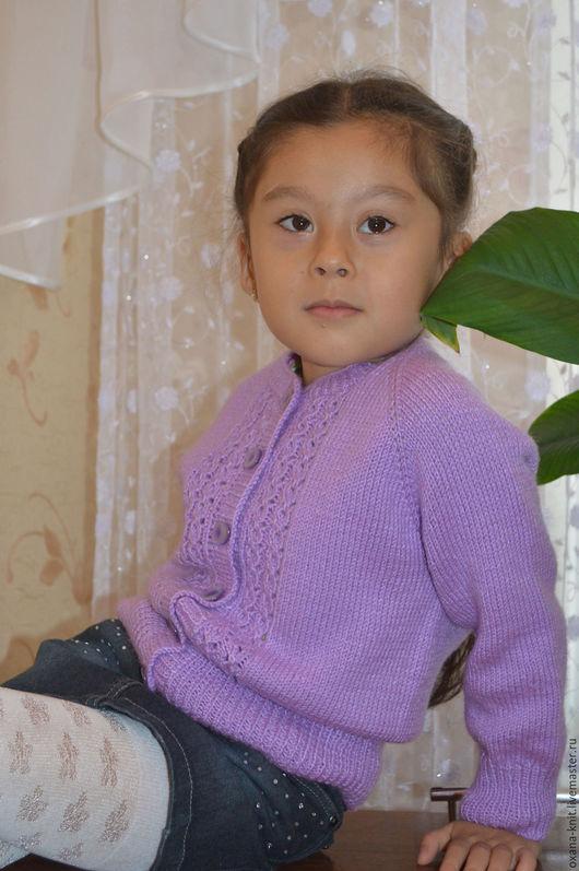 """Одежда для девочек, ручной работы. Ярмарка Мастеров - ручная работа. Купить Жакет """"Фиалка"""". Handmade. Сиреневый, детская кофта"""