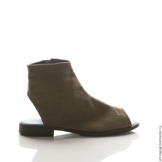 Обувь ручной работы. Ярмарка Мастеров - ручная работа. Купить Открытые летние ботинки 11-306 (ВЧ). Handmade. Мода