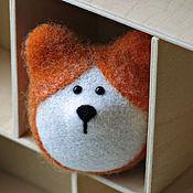 Куклы и игрушки ручной работы. Ярмарка Мастеров - ручная работа Вельш-корги (игрушка из шерсти). Handmade.