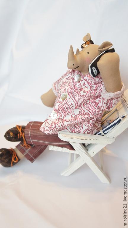 Мишки Тедди ручной работы. Ярмарка Мастеров - ручная работа. Купить Носорог. Handmade. Бежевый, текстильная игрушка, тильда, сплюшка