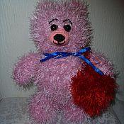 Куклы и игрушки ручной работы. Ярмарка Мастеров - ручная работа Мишка с сердечком. Handmade.