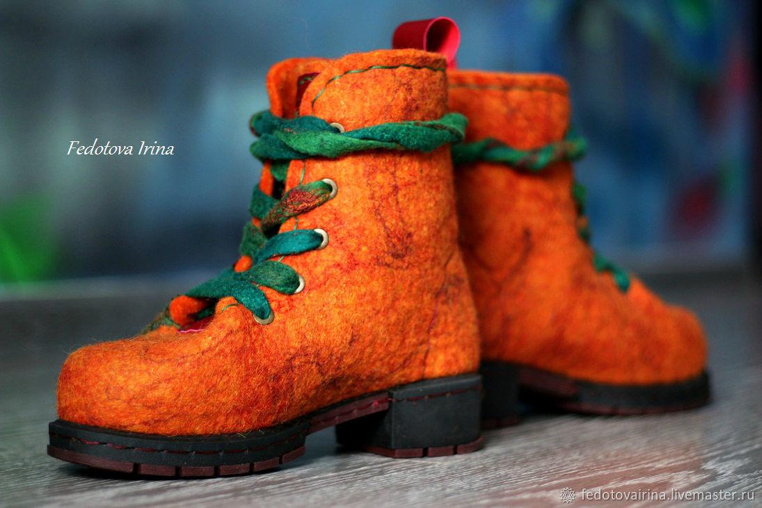 18d207f6a Обувь ручной работы. Ярмарка Мастеров - ручная работа. Купить Ботинки  валяные 'Джорджия' ...