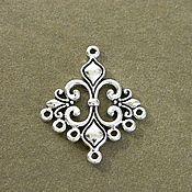 Материалы для творчества handmade. Livemaster - original item Connector Lily antique silver. for PCs. Handmade.