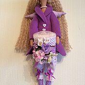 Куклы и игрушки ручной работы. Ярмарка Мастеров - ручная работа Хранительница ватных палочек тильда фея ангел. Handmade.
