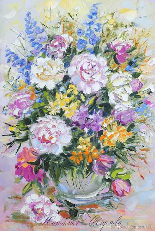 Oil painting 'Peonies in the Sun', Pictures, Voronezh,  Фото №1