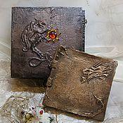 Фотоальбомы ручной работы. Ярмарка Мастеров - ручная работа Фотоальбом в сундуке Сокровище дракона. Handmade.