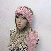 Аксессуары handmade. Livemaster - original item Set: armband and mitts, powder color.. Handmade.