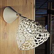 Для дома и интерьера handmade. Livemaster - original item Cream openwork sconce/swivel ceiling light. Handmade.