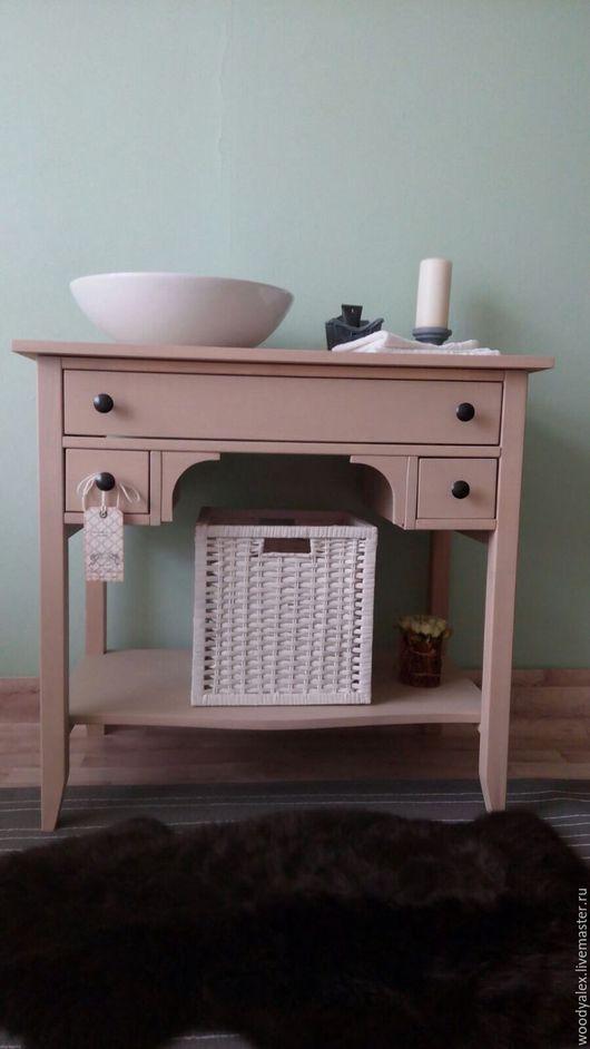 Мебель ручной работы. Ярмарка Мастеров - ручная работа. Купить Тумба под раковину Beige. Handmade. Бежевый, мебель для ванной