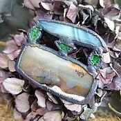 Украшения handmade. Livemaster - original item Copper pendant agate, uvarovite, moss agate. Handmade.