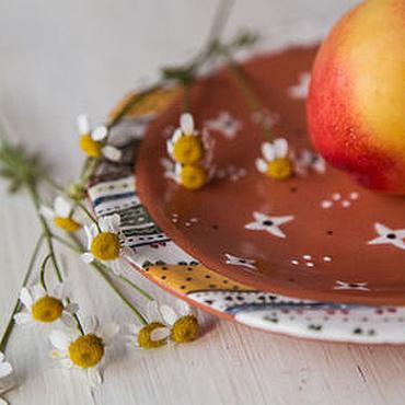 """Посуда ручной работы. Ярмарка Мастеров - ручная работа """"Мотивы Бакста.Пери"""" Блюдце ручной работы, керамика. Handmade."""