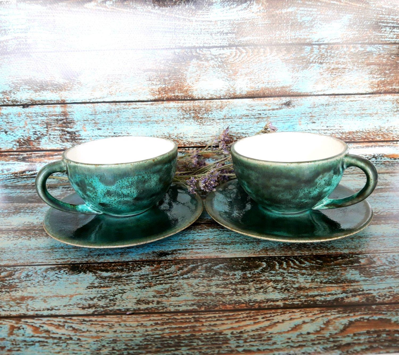 Кружки и чашки ручной работы. Ярмарка Мастеров - ручная работа. Купить Чайно-кофейная пара. Handmade. Керамика, керамическая чашка