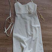 Одежда ручной работы. Ярмарка Мастеров - ручная работа Сорочка-сарафан Молочный из льна. Handmade.