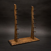 Сувениры и подарки handmade. Livemaster - original item Stand for 7 knives from solid oak. Handmade.
